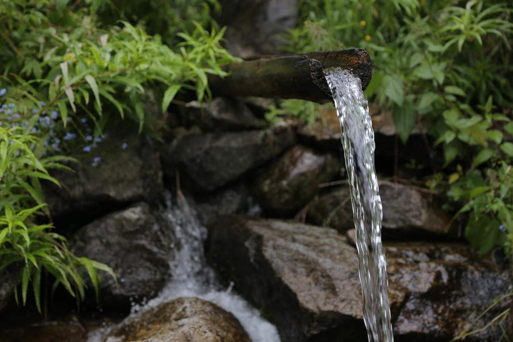 Pure spring water for cleaning Shilajit